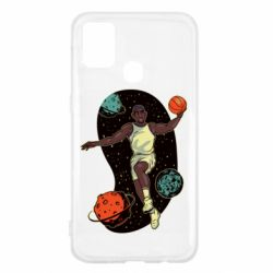 Чехол для Samsung M31 Basketball player and space