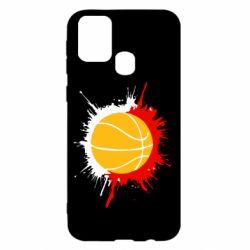 Чехол для Samsung M31 Баскетбольный мяч