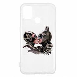 Чехол для Samsung M31 Batman and Catwoman Kiss