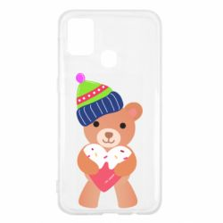 Чехол для Samsung M31 Bear and gingerbread