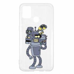 Чехол для Samsung M31 Bender and the heads of robots