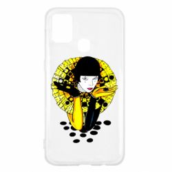 Чехол для Samsung M31 Black and yellow clown
