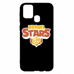 Чехол для Samsung M31 Brawl Stars logo orang and yellow