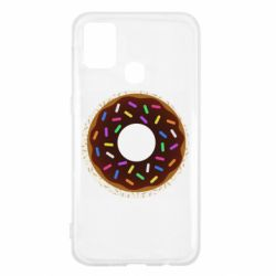 Чохол для Samsung M31 Brown donut on a background of patterns