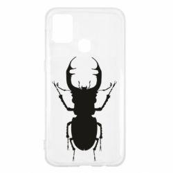 Чехол для Samsung M31 Bugs silhouette