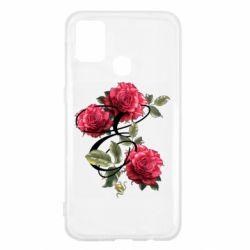 Чехол для Samsung M31 Буква Е с розами