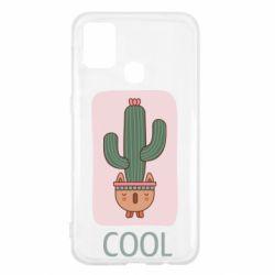 Чехол для Samsung M31 Cactus art
