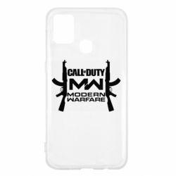 Чехол для Samsung M31 Call of debt MW logo and Kalashnikov