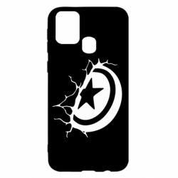 Чохол для Samsung M31 Captain America shield