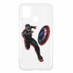 Чехол для Samsung M31 Captain america with red shadow