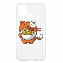 Чохол для Samsung M31 Cat and Ramen