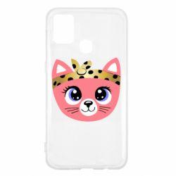 Чехол для Samsung M31 Cat pink