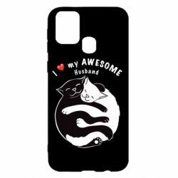Чехол для Samsung M31 Cats and love