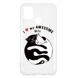 Чехол для Samsung M31 Cats with a smile