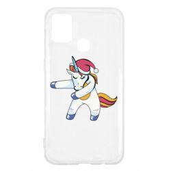 Чохол для Samsung M31 Christmas Unicorn