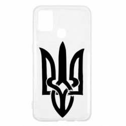 Чехол для Samsung M31 Coat of arms of Ukraine torn inside