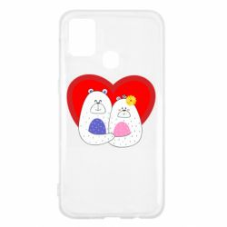 Чохол для Samsung M31 Couple Bears