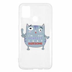 Чехол для Samsung M31 Cute cat and text
