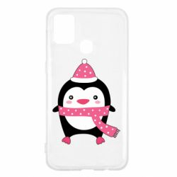 Чехол для Samsung M31 Cute Christmas penguin