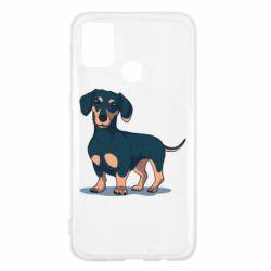 Чохол для Samsung M31 Cute dachshund