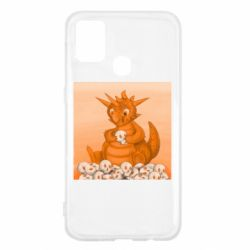 Чохол для Samsung M31 Cute dragon with skulls