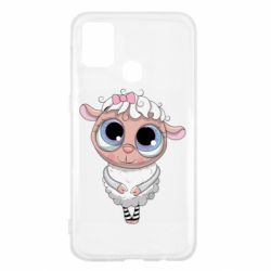 Чехол для Samsung M31 Cute lamb with big eyes