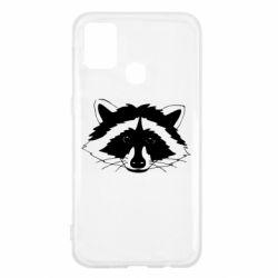 Чохол для Samsung M31 Cute raccoon face