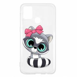 Чехол для Samsung M31 Cute raccoon