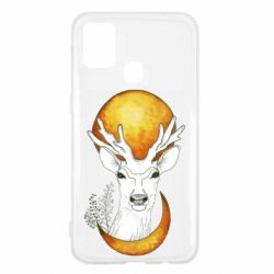 Чехол для Samsung M31 Deer and moon