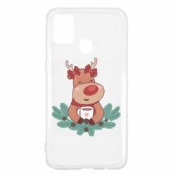 Чехол для Samsung M31 Deer tea party girl
