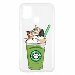 Чехол для Samsung M31 Delicious cat