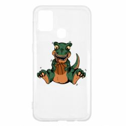 Чехол для Samsung M31 Dinosaur and basketball