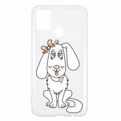 Чехол для Samsung M31 Dog with a bow