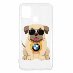 Чохол для Samsung M31 Dog with a collar BMW
