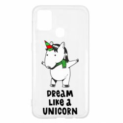 Чехол для Samsung M31 Dream like a unicorn