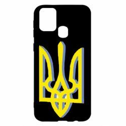 Чохол для Samsung M31 Двокольоровий герб України