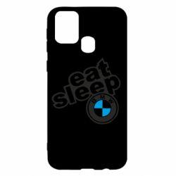Чохол для Samsung M31 Eat, sleep, BMW