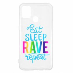 Чохол для Samsung M31 Eat, sleep, RAVE, repeat