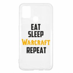 Чехол для Samsung M31 Eat sleep Warcraft repeat