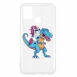 Чохол для Samsung M31 Єдиноріг і динозавр