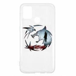 Чехол для Samsung M31 Emblem wolf and text The Witcher