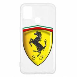 Чехол для Samsung M31 Ferrari 3D Logo