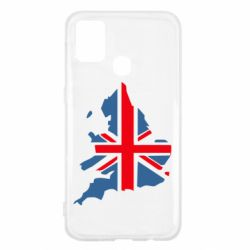 Чехол для Samsung M31 Флаг Англии