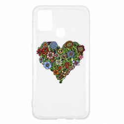 Чохол для Samsung M31 Flower heart