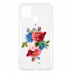 Чохол для Samsung M31 Flowers and butterfly