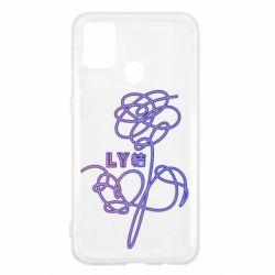Чехол для Samsung M31 Flowers line bts
