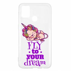 Чохол для Samsung M31 Fly to your dream and lion
