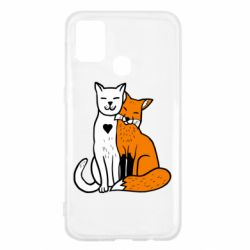 Чохол для Samsung M31 Fox and cat heart