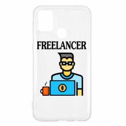 Чехол для Samsung M31 Freelancer text