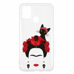 Чохол для Samsung M31 Frida Kalo and cat